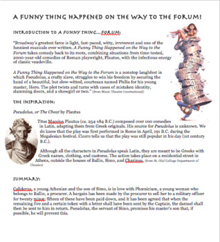 A Funny Thing Happened on the Way to the Forum! Movie Study Guide