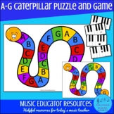 A-G Music Alphabet Caterpillar Puzzle Game