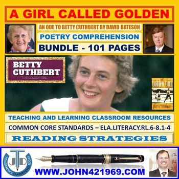 A GIRL CALLED GOLDEN : AN ODE BY DAVID BATESON - CLASSROOM RESOURCES - BUNDLE