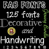FONTS FOR COMMERCIAL USE - HANDWRITING AND DECORATIVE {GROWING BUNDLE}