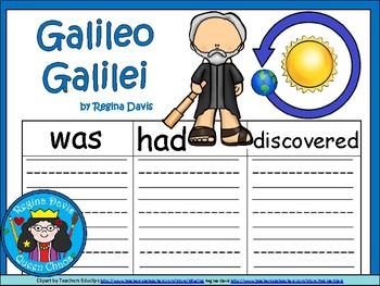 A+ Galileo Galilei ...Three Graphic Organizers