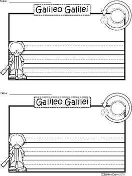 A+ Galileo Galilei ... Writing Paper