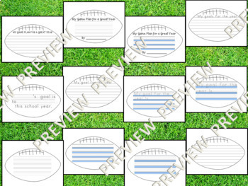 A Game Plan for a Great Year - Football Writing Back to School Bulletin Board