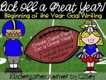 A Game Plan for a Great Year - Football Goal Setting Writing Templates K 1 2
