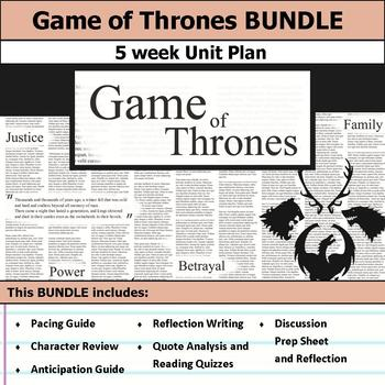 A Game of Thrones Unit Novel Study