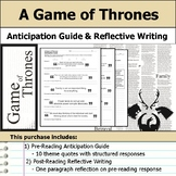 A Game of Thrones - Anticipation Guide & Reflection