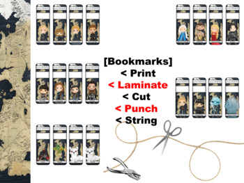 A Game of Thrones Character Bookmarks and Hang-Ems