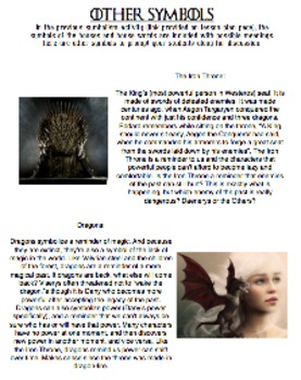 A Game of Thrones Literary Circle Lesson on Symbolism