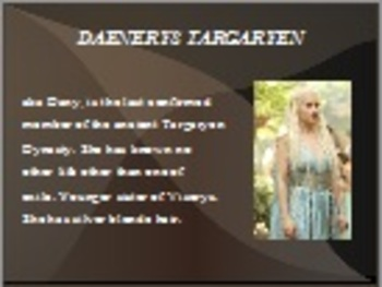 A Game of Thrones Powerpoint Introduction