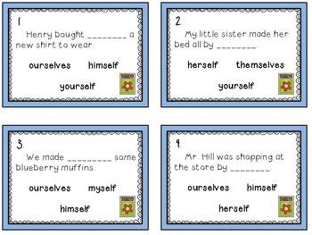 A Garden Full of Reflexive Pronouns activity set