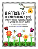 A Garden of First Sound Fluency: Lists For School and Home