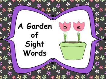 A Garden of Sight Words: Word Work Activity