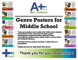 A+ Genre Posters for Middle School (basic)