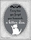 A Gentle Homework Reminder