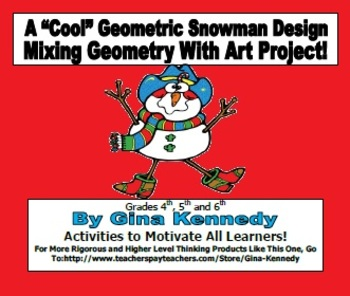 "A ""Geometric' Geometry Snowman Creative Design"