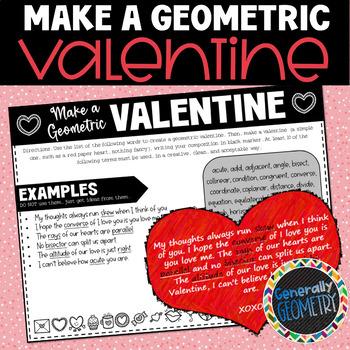 A Geometric Valentines Day Geometry Vocabulary By Generally Geometry
