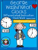 A+ George Washington Analog Clock & Digital Clock Work (Hour & Half Hour)