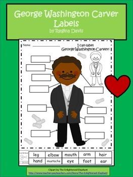 A+ George Washington Carver Labels