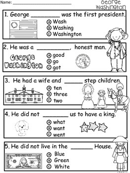 A+ George Washington Comprehension:Differentiated Instruction For Guided Reading