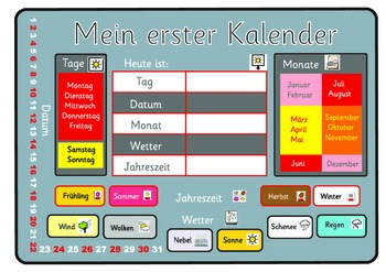A German calendar. A3.