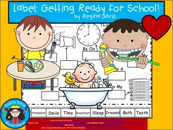 A+ Getting Ready For School Labels.....Labeling Activity For Back To School