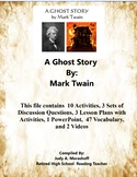 A Ghost Story By Mark Twain Teacher Supplemental Resources Fun Engaging