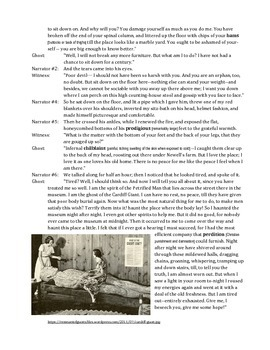 """A Ghost Story"" by Mark Twain, Script or Play, Vocabulary, Study Guide"