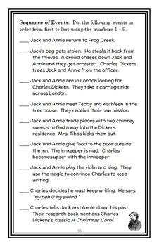 A Ghost Tale for Christmas Time: Magic Tree House #44 (Osborne) Novel Study