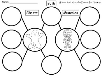 A+ Ghosts And Mummies Double Bubble Maps