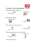 A Giant Crush Valentine's Day Worksheet