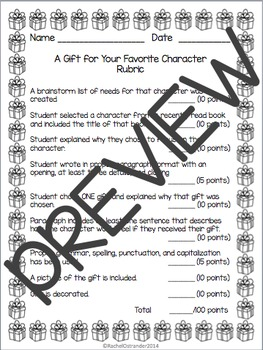 A Gift for Your Favorite Character Writing Activity