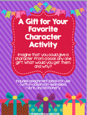 Character Gift Writing Activity