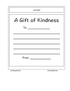 A Gift of Kindness Writing Creativity