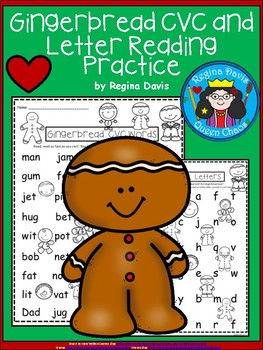 A+ Gingerbread: CVC Words And Letter Reading Practice