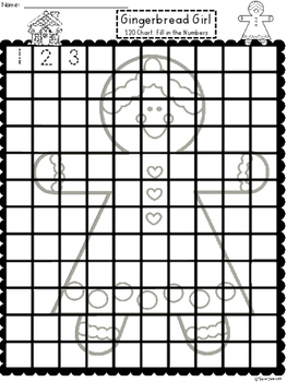 A+ Gingerbread Girl 100 and 120 Chart