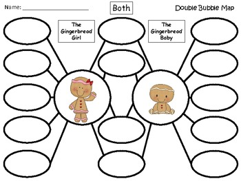 A+ Gingerbread Girl and Gingerbread Baby:  Double Bubble Maps