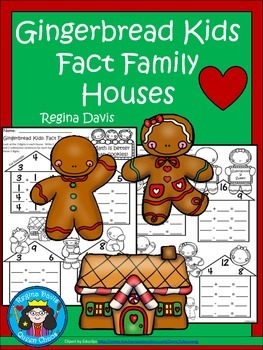 A+ Gingerbread Kids: Fact Family Houses