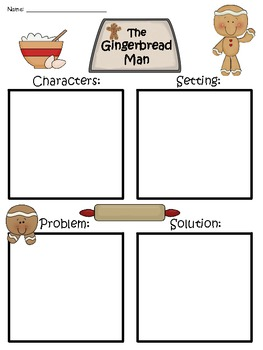 A+ Gingerbread Man Blank Story Maps