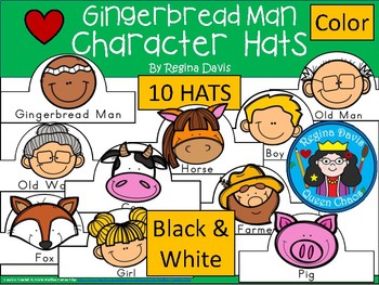 A+ Gingerbread Man Character Hats