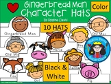 A+ Gingerbread Man Character Hats