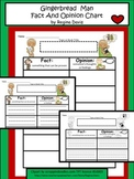 A+ Gingerbread Man Fact And Opinion Chart...Graphic Organizer