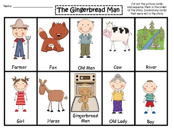 Punchy image pertaining to the gingerbread man story printable