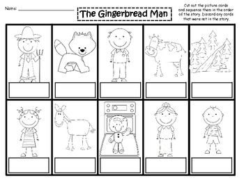 A Gingerbread Man Story Sequencing And Word Wall By