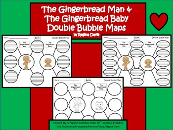 A+ Gingerbread Man and Gingerbread Baby:  Double Bubble Maps