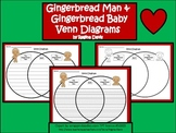 A+ Gingerbread Man and Gingerbread Baby Venn Diagram