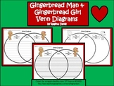 A+ Gingerbread Man and Gingerbread Girl Venn Diagram