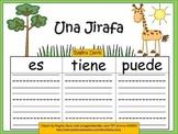 A+ Giraffe: La Jirafa...Three Spanish Graphic Organizers