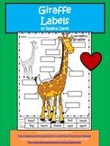 A+ Giraffe  Labels