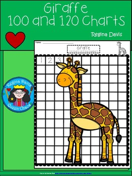 A+ Giraffe: Numbers 100 and 120 Chart