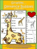 A+ Giraffes: Fill In the Blank.Multiple Choice Sight Word Sentences
